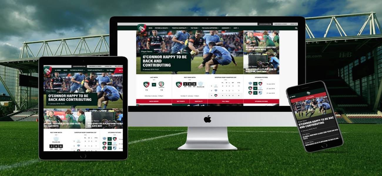 Leicester Tigers website app revamp