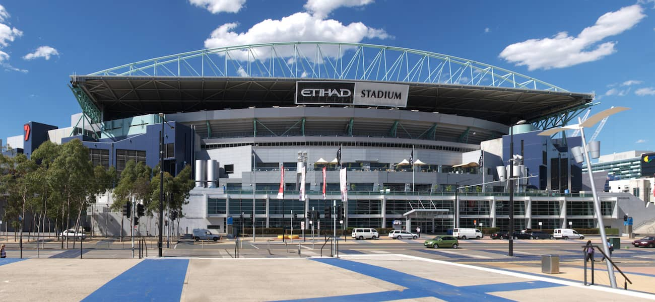 Etihad Stadium USA Aus basketball