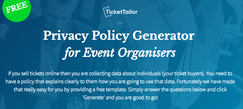 Privacy Policy Generator Online Free Nasty Women - Free online privacy policy template