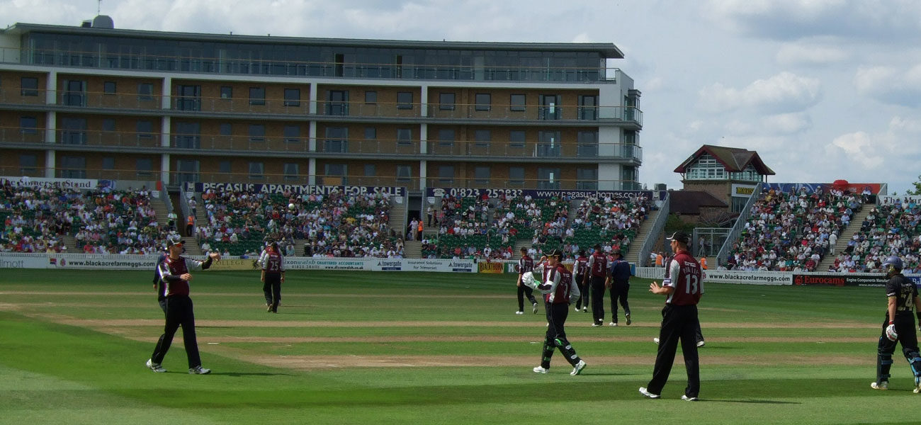Players at Somerset's stadium